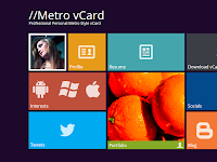 Download Template Metro VCard Seperti Windows 8 Gratis