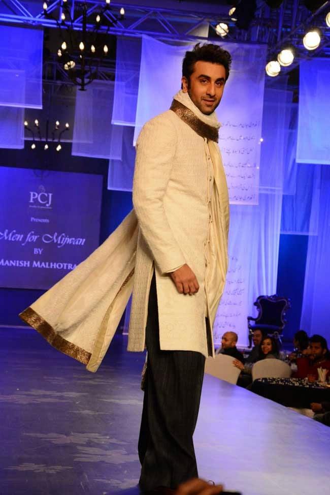 Ranbir Kapoor at Men for Mijwan charity fashion show