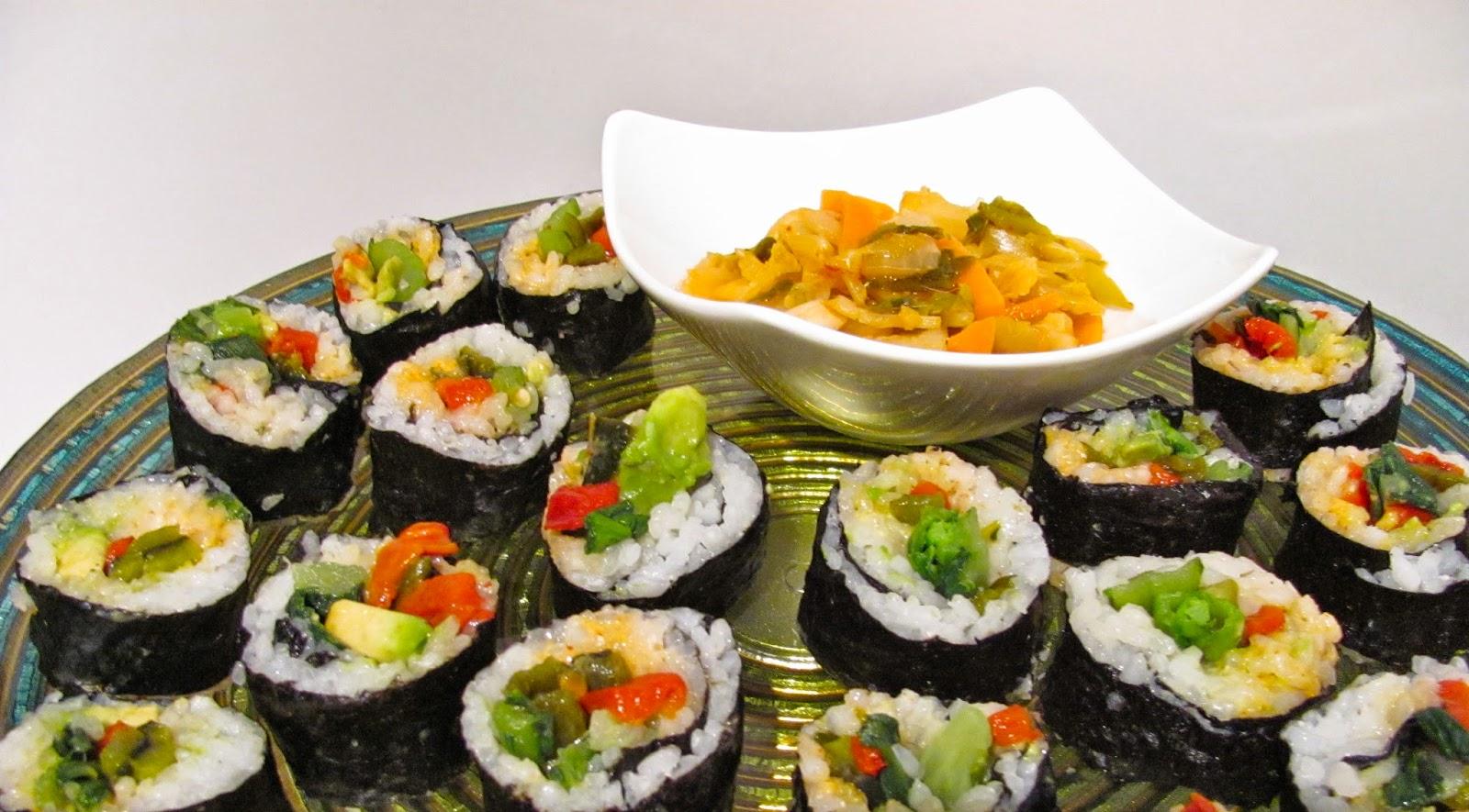 Spicy Avocado Roll | Vegan Sushi Platter