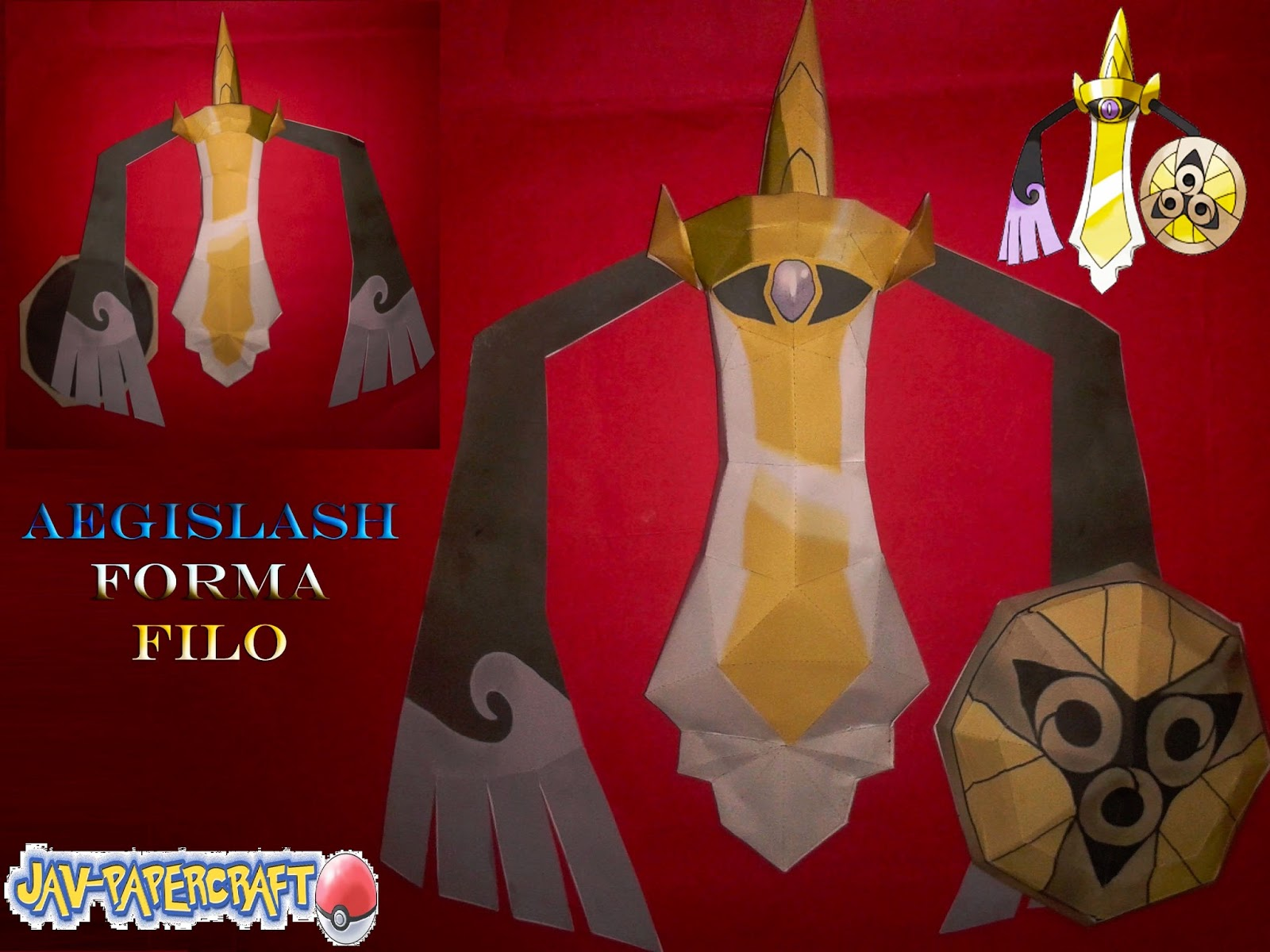 Pokemo Aegislash Papercraft