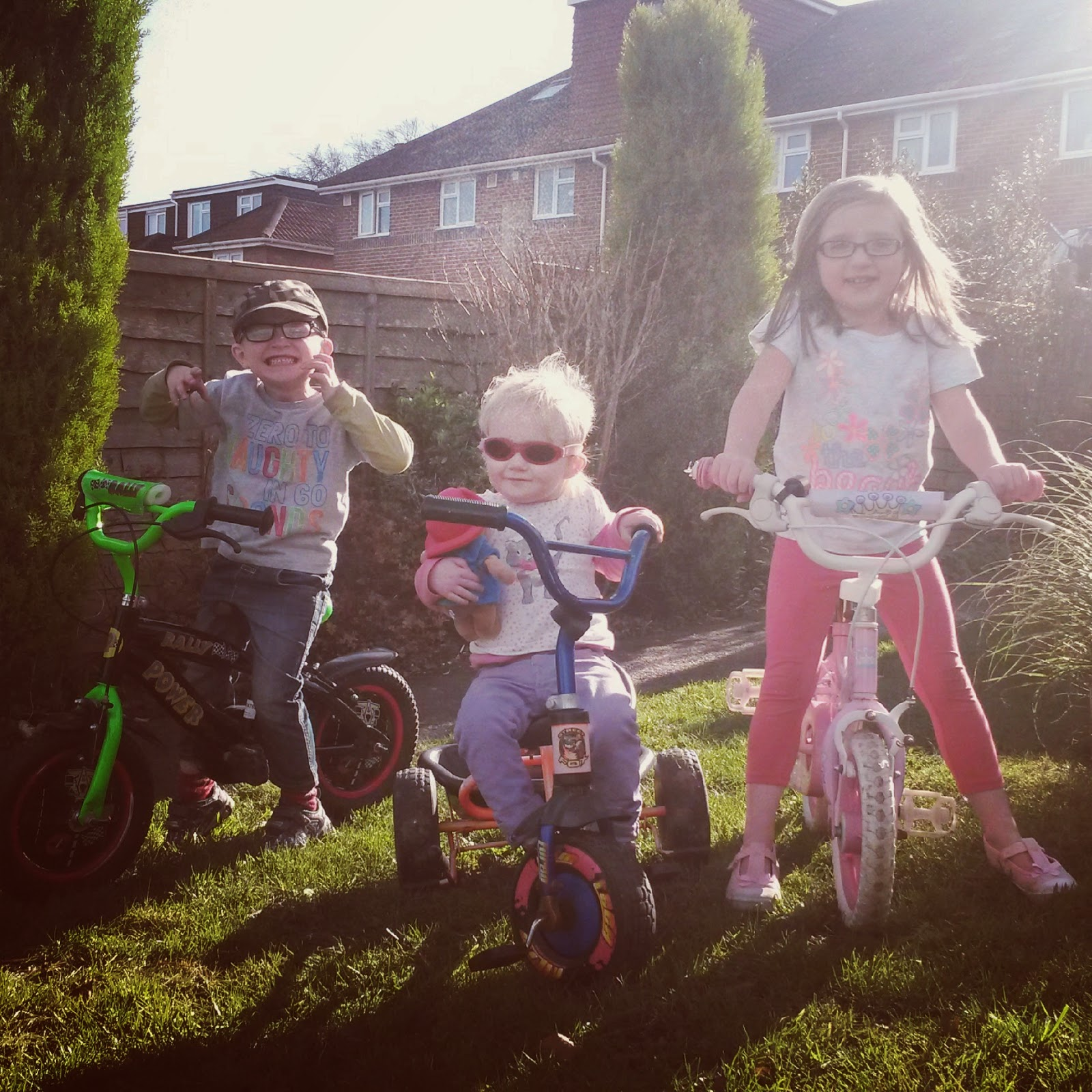 kids on bikes with Paddington