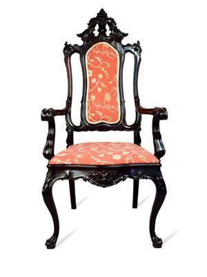 Par de cadeiras de Braços Brasileiras, estilo D. José. Autor desconhecido. 130 x 61 x 50 cm