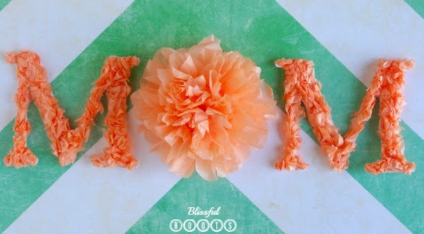 DIY Tissue Paper Mother's Day Card from Blissful Roots