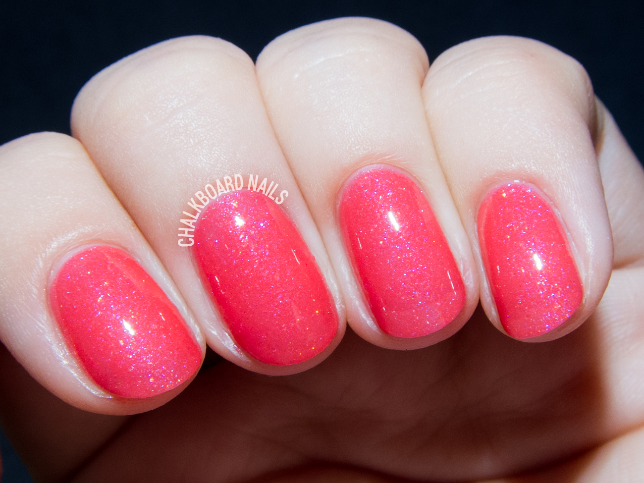 Serum No. 5 Raspberry Delight via @chalkboardnails