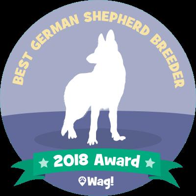 Best German Shepherd Breeder Award