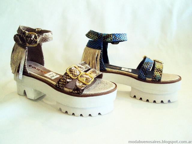 Zapatos de moda verano 2015.