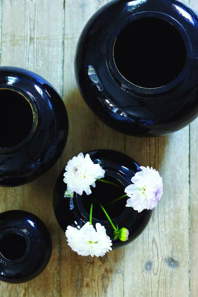 Keramik krukke_sort_ming stil_shop online hos Bæk & Kvist