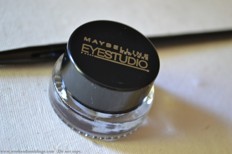 maybelline eyestudio gel eyeliner review swatch eotd charcoal charbon