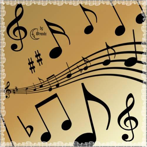 Photoshop müzik nota fırça seti