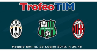 Prediksi Pertandingan Juventus vs Milan vs Sassuolo 24 Juli 2013