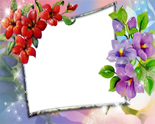 Flowers photo frames ideas.