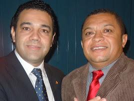 CANTOR JOSE ANTONIO COM O CANTOR E DEPUTADO FEDERAL MARCO FELICIANO EM BRASILIA.