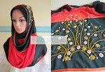 SHAWL HALF MOON 3 TONE PIPING