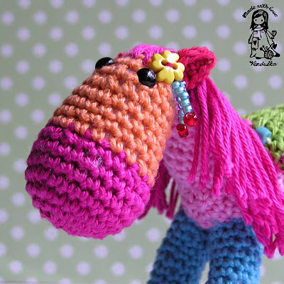 rocking horse, crochet toy, amigurumi, christmas decoration, christmas,crochet, crochet pattern,Magic with hook and needles, Vendula Maderska design, VendulkaM crochet,