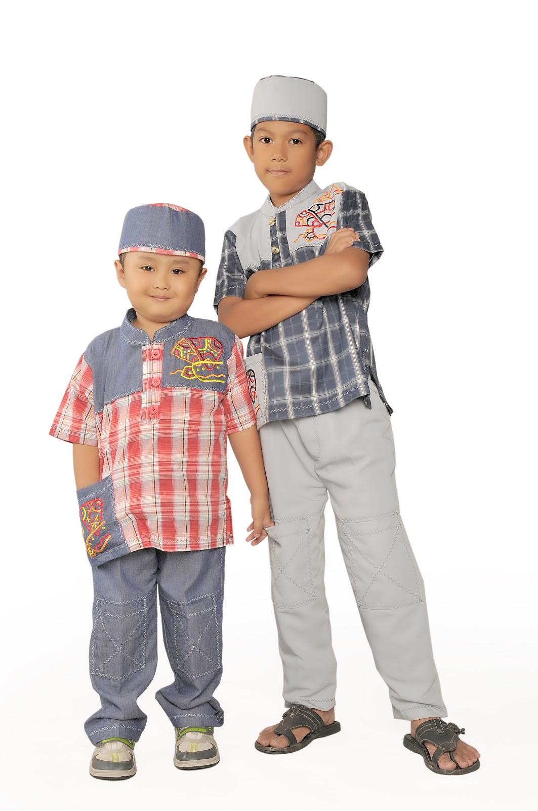 Baju Koko Anak Lengan Pendek Motif Kotak