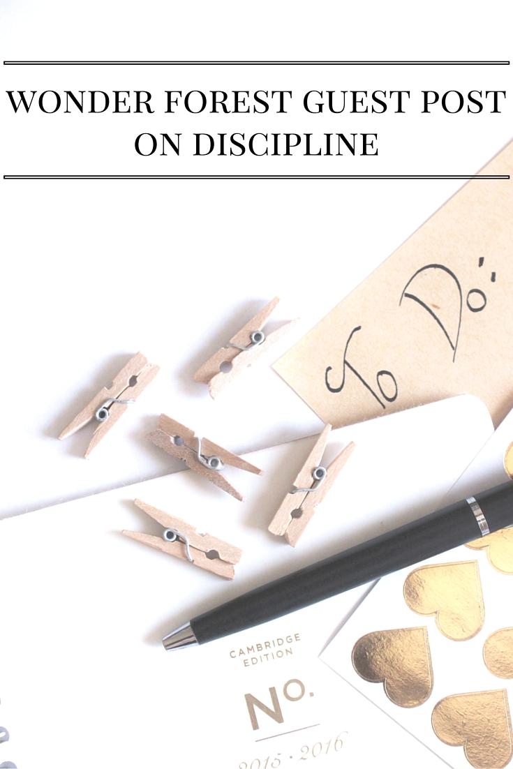 Wonder Forest Guest Post On Discipline