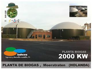 2000 KW INSTALACION DE PLANTA DE BIOGAS INDEREN biodigestores ENERGIAS RENOVABLES VALENCIA MOERSTRATEN HOLANDA