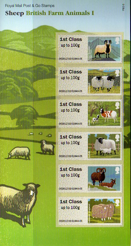 Sheep Faststamps pack correct  strip for pack.