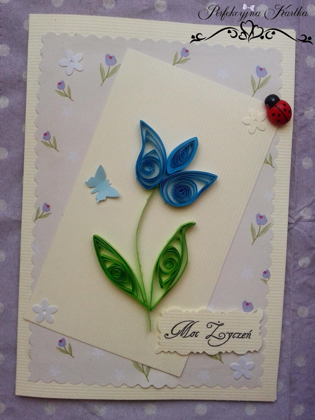 Kartka urodzinowa z tulipanem :* quilling