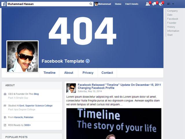 facebook profile premium responsive blogger template 2015 itsoftware