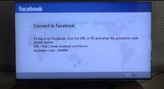 Facebook com device activation code lg