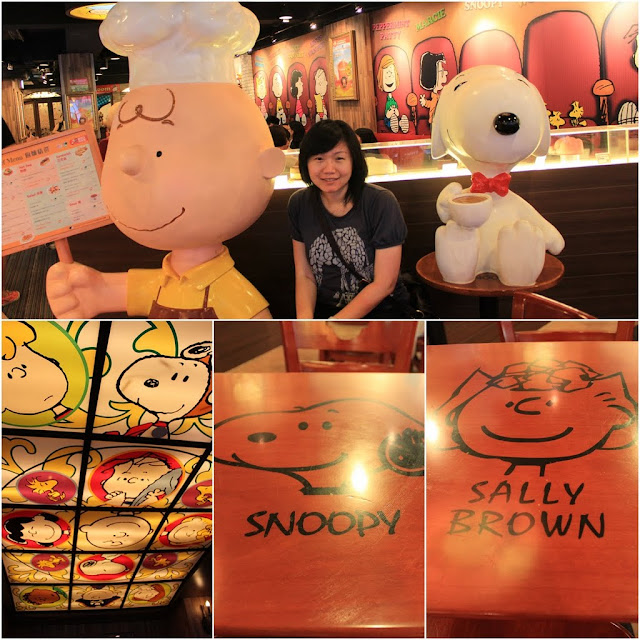 Ceiling and table  decoration at Charlie Brown Cafe in Tsim Sha Tsui, Kowloon, Hong Kong