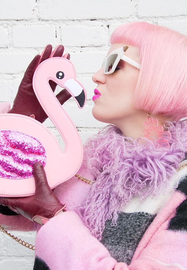 streetstyle, skinny dip, flamingo bag
