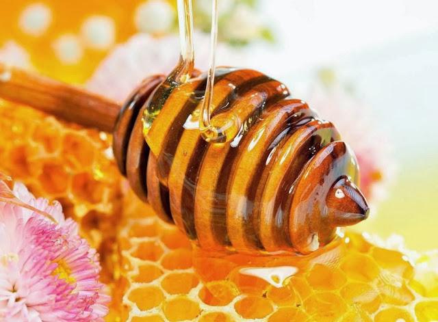 Trị môi khô nứt nẻ bằng: Mật ong
