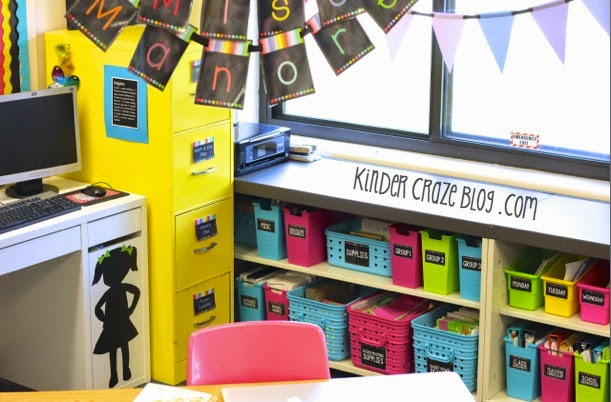 gorgeous supply organization in this kindergarten classroom