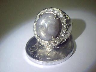 Batu Cincin White Sapphire Burma