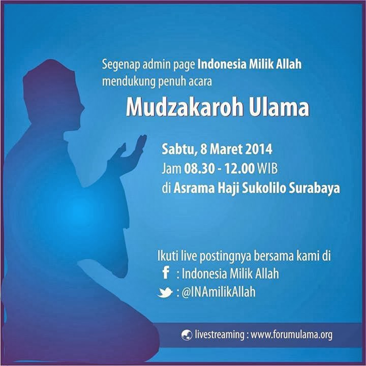 Saksikan Live Setreaming Forum Mudzakaroh Ulama
