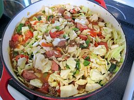 ... and Juli cook: Adventures in Iowa: Southwestern Cabbage Jambalaya