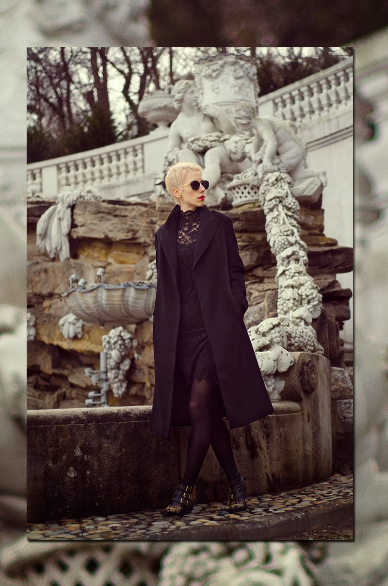 black maxi coat sheinside beeswonderland