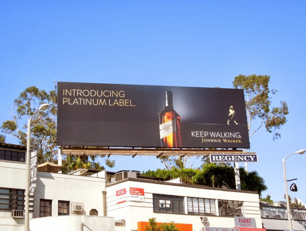 Johnnie Walker Introducing Platinum Label billboard