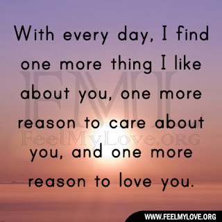 you, one more reason to care about you, and one more reason to love ...