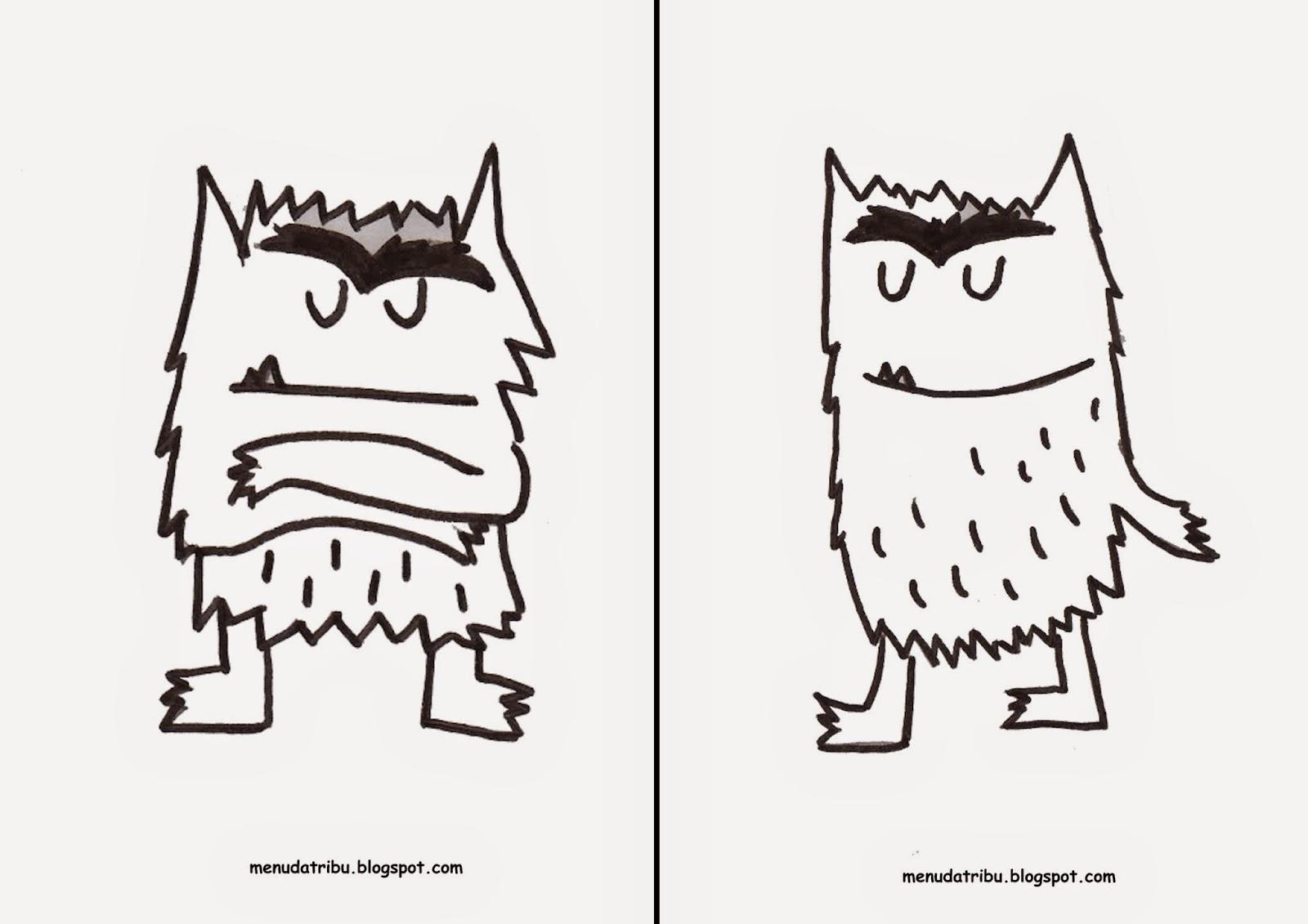 Famoso Páginas Para Colorear De Monstruos Patrón - Dibujos Para ...