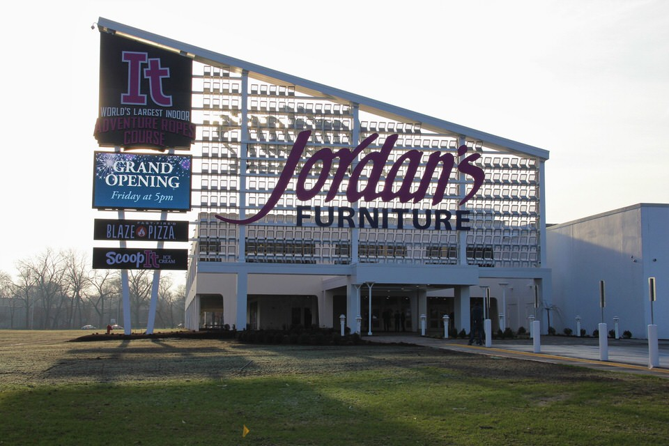 Jordanu0027s Furniture   Open As Of December 11 In The Renovated New Haven  Register Building At 40 Sargent Drive