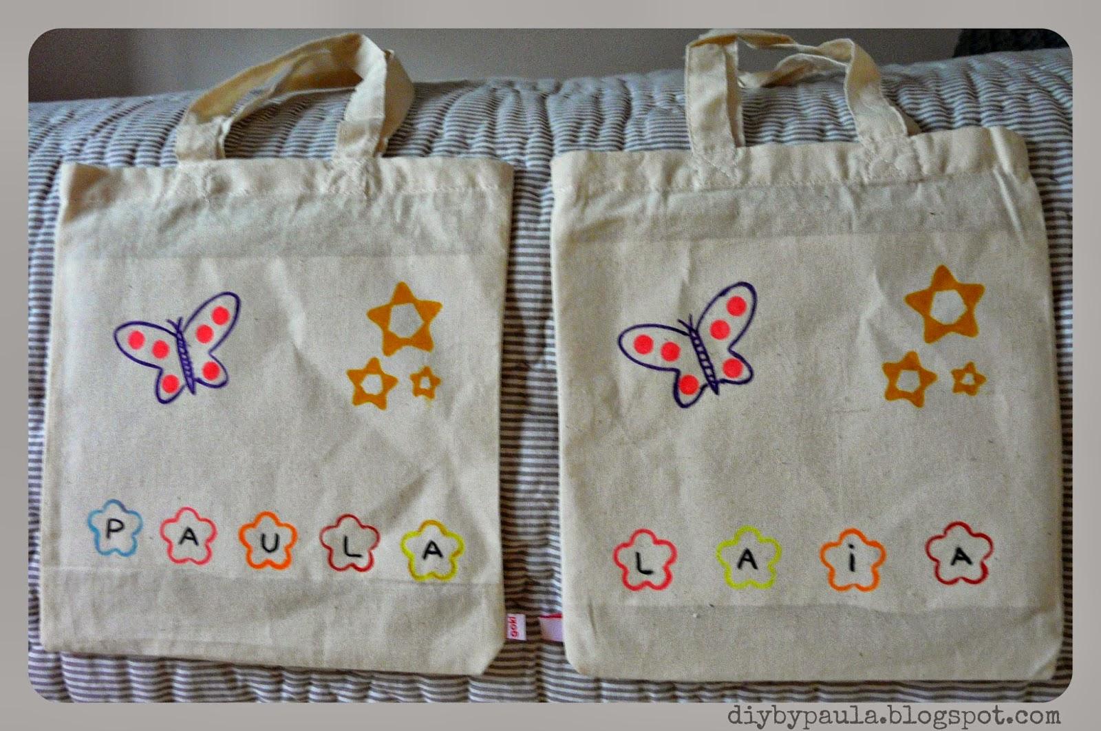 Diy by paula craftybox bolsas de tela para pintar - Bolsas para pintar ...