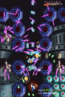 Shikigami no Shiro arcade game portable download free bullet hell shoot'em up