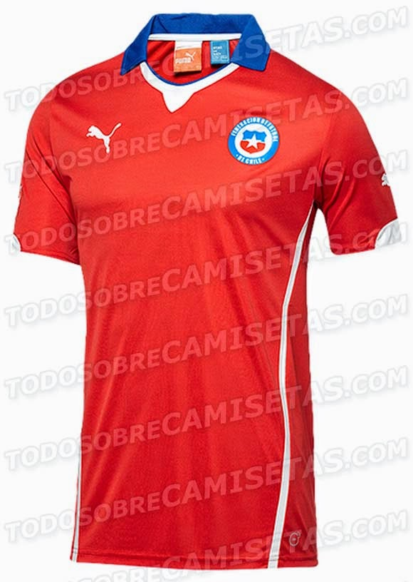 Kostum Timnas Chile Piala Dunia 2014