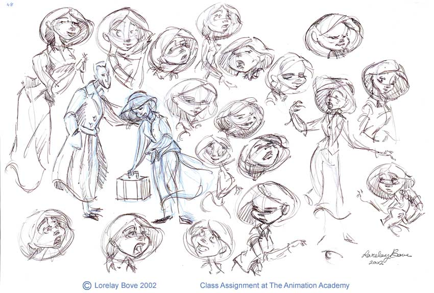 Calarts Character Design Portfolio : The animation academy december