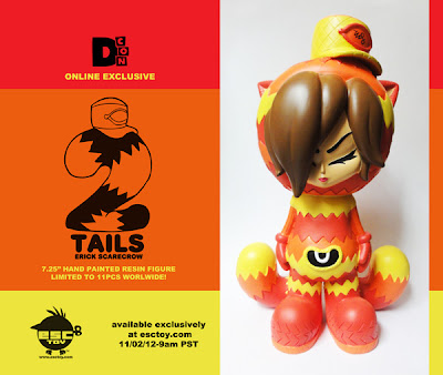Designer Con 2012 Online Exclusive 2 Tails Fireball Resin Figure by Erick Scarecrow