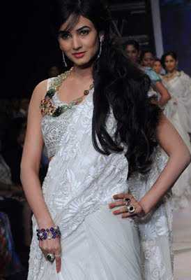 Model's Walking on the Ramp at IIJW 2011