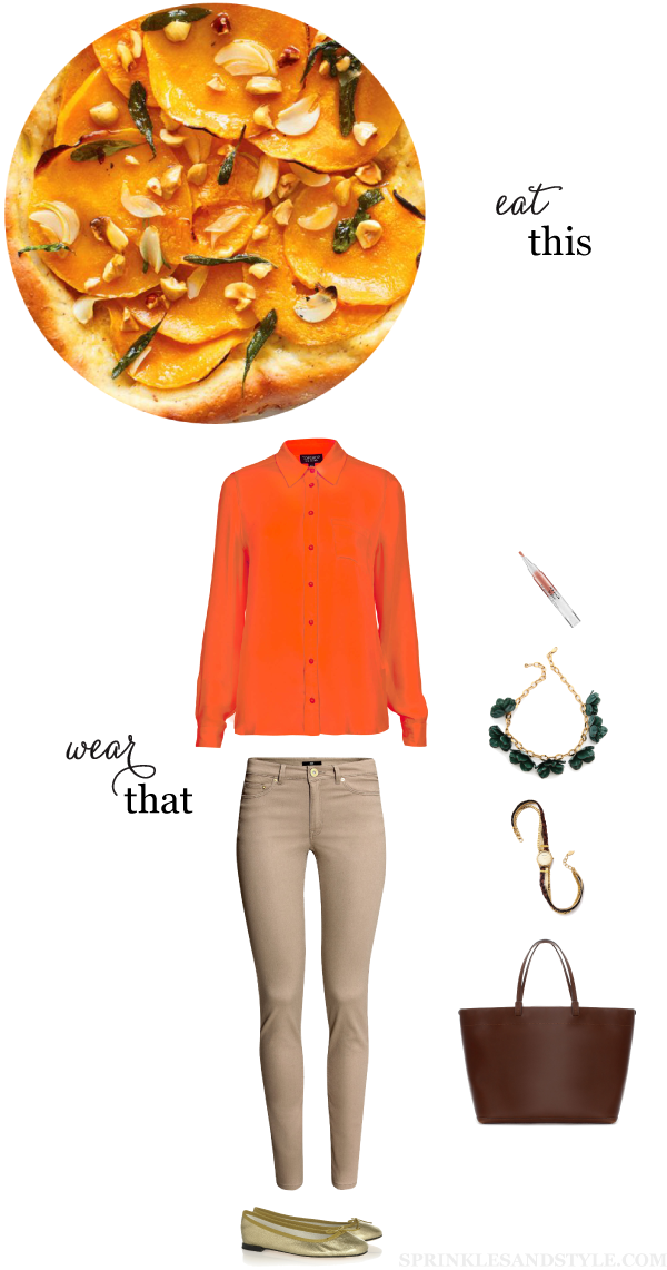 Sprinkles and Style || Eat This, Wear That: Butternut Squash Pizza