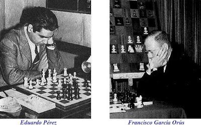 Los ajedrecistas españoles Eduardo Pérez y Francisco García Orús