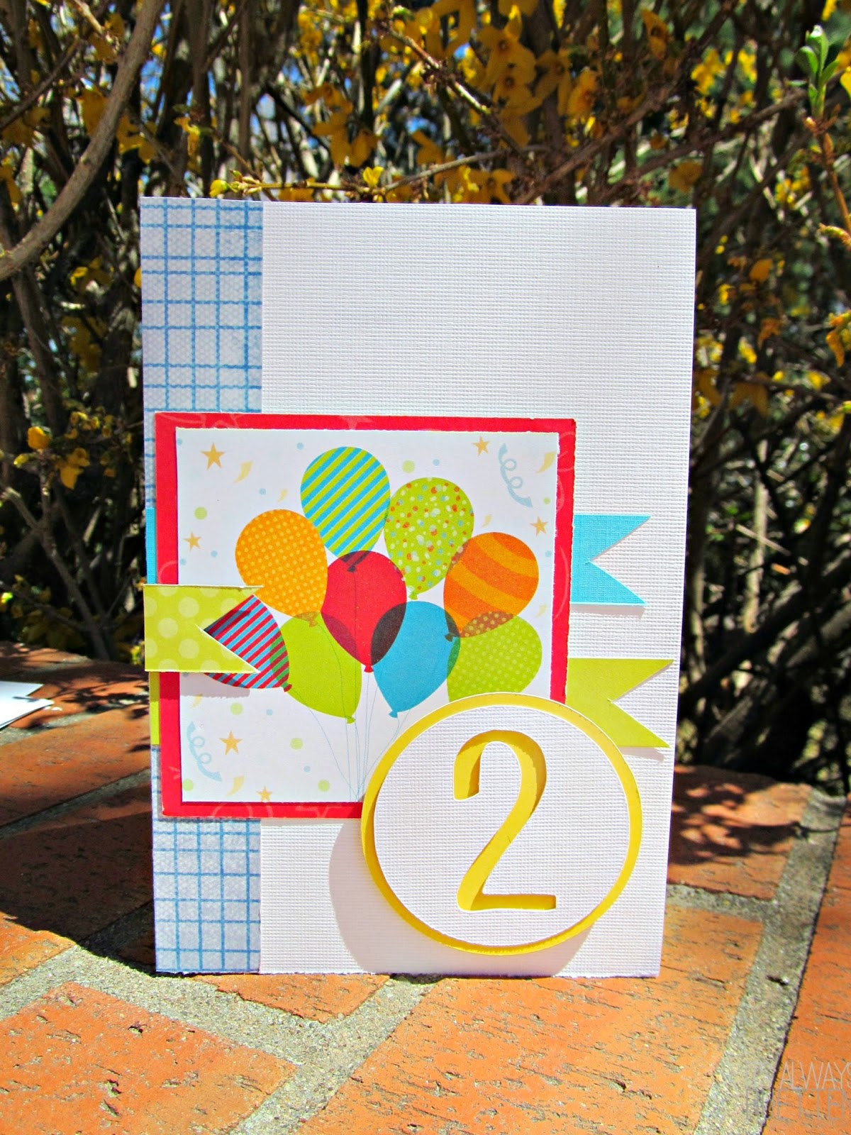 Bright and Sunny Birthday Card with FREE CUT FILE! #MOJO341