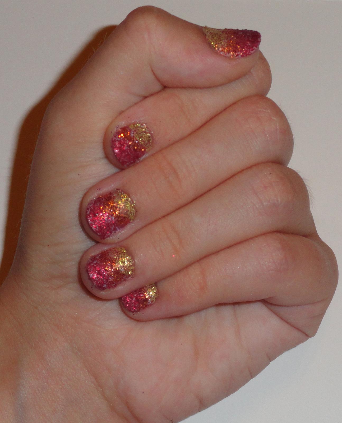 Easy glitter nail designs