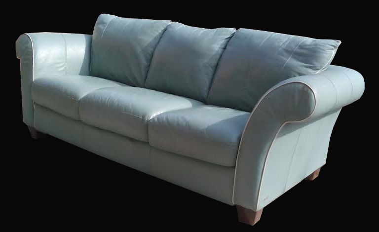 Tiffany Blue Leather Sofa By Italsofa 350 Sold