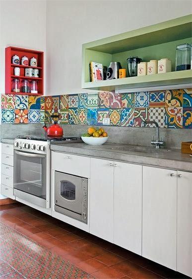 Blog de decora o arquitrecos mosaicos de azulejos for Baldosas para cocinas modernas