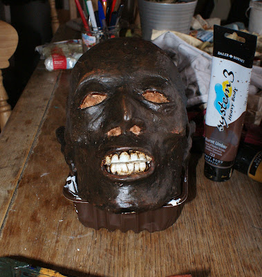 Finished head front view.